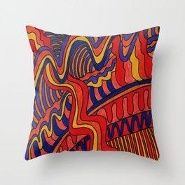 Abstract Vibrant Hues Throw Pillow