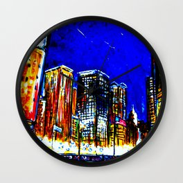 Chicago Nights Downtown Wall Clock