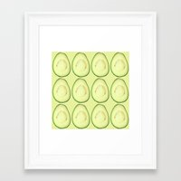 avocado Framed Art Prints featuring avocado by Panic Junkie