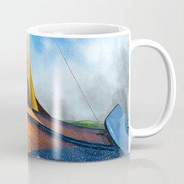 Stormy weather skutsje sailing ship Coffee Mug