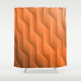 Gradient Orange Diamonds Geometric Shapes Shower Curtain