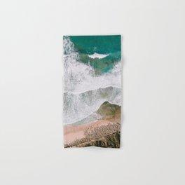 Waves of the ocean | Ericeira fine art travel photography | sea drone wall art Hand & Bath Towel