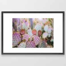 Cotton Candy Cacti Framed Art Print