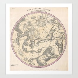 Burritt - Huntington Map of the Stars: The Northern Hemisphere Art Print