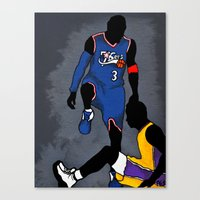 lakers Canvas Prints featuring The Step Over by nissa