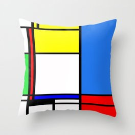 Mondrian New Throw Pillow