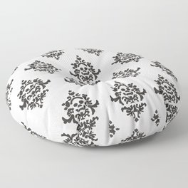 Victorian Pattern - Skull Floor Pillow