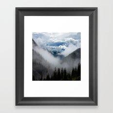 MOUNTAIN, FOREST AND FOG Framed Art Print