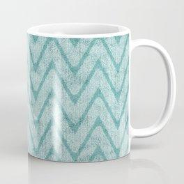 Soft Sea Green Zigzag Imitation Terry Towel Coffee Mug