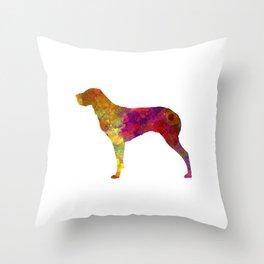 Burgos Pointer in watercolor Throw Pillow