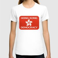 hong kong T-shirts featuring Democracy Hong Kong Flag by mailboxdisco