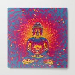 Crystal Buddha Metal Print