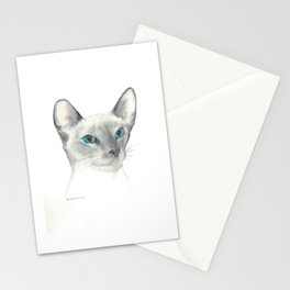 blue point siamese cat 1 Stationery Cards