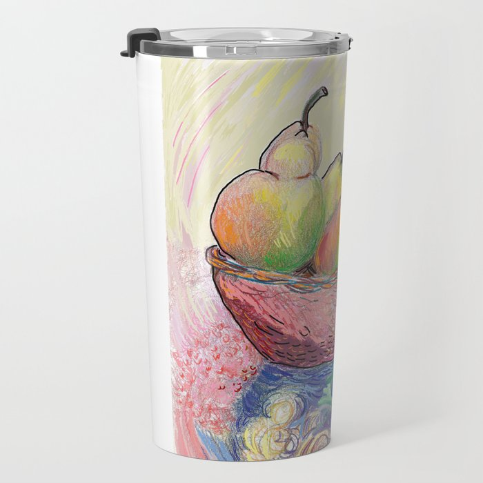 Golden Pears Travel Mug