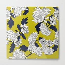 Yellow paeony Metal Print