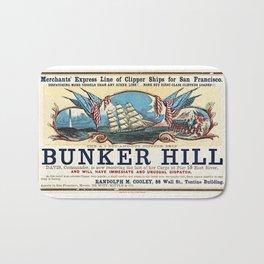 Bunker Hill Clipper Ship Card Bath Mat