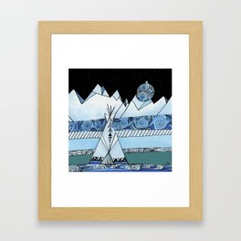 Blue Teepee Framed Art Print