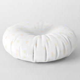 Polka Dots Pattern: Light Beige Floor Pillow