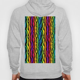 crazy 90s rainbow splatter zebra stripes Hoody