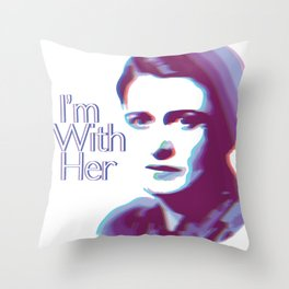 I'm With Her (Ayn Rand) Throw Pillow