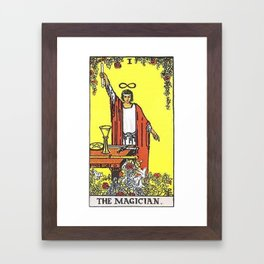 The Magician Tarot Framed Art Print