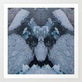 Icy Troll Art Print