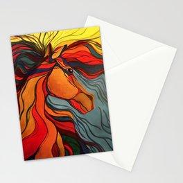 Wild Horse Breaking Free Southwestern Style Stationery Cards