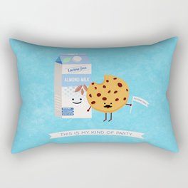 Milk and Cookie Rectangular Pillow