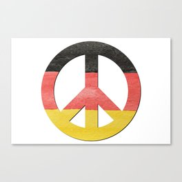 Water Color German Flag CND Peace Symbol Canvas Print