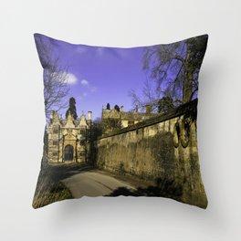 Manor Gatehouse  Throw Pillow