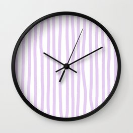 Lavender Stripes Wall Clock