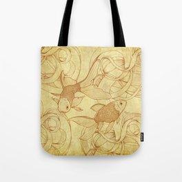 Vintage Goldfishes  Tote Bag