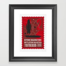 Beyond imagination: Battlestar Galactica postage stamp  Framed Art Print