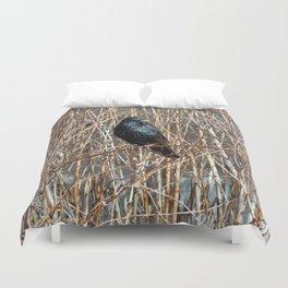 Starling On Dry Arrangement Duvet Cover