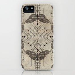 Sacred  Geometry  Zebra Longwing Butterfly iPhone Case