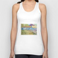country Tank Tops featuring Country house by Aline Souza de Souza