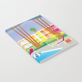 Palm Springs, California - Skyline Illustration by Loose Petals Notebook