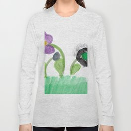 Flowers Family Watercolor Long Sleeve T-shirt