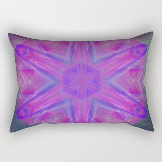Jeweled splendor in vibrant pink Rectangular Pillow