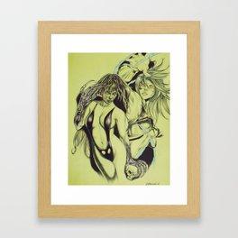 Comic Girls  Framed Art Print