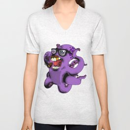 Flight of the Octopus - Mob's Accountant Version Unisex V-Neck