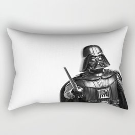 Darth Vader Black & White Photograph Rectangular Pillow
