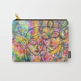 Radha Krishna Abstract colorful painting by Manjiri Kanvinde Carry-All Pouch