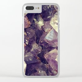 amethyst. Clear iPhone Case