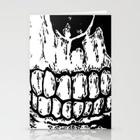 teeth Stationery Cards featuring Teeth by Mike Hague Prints