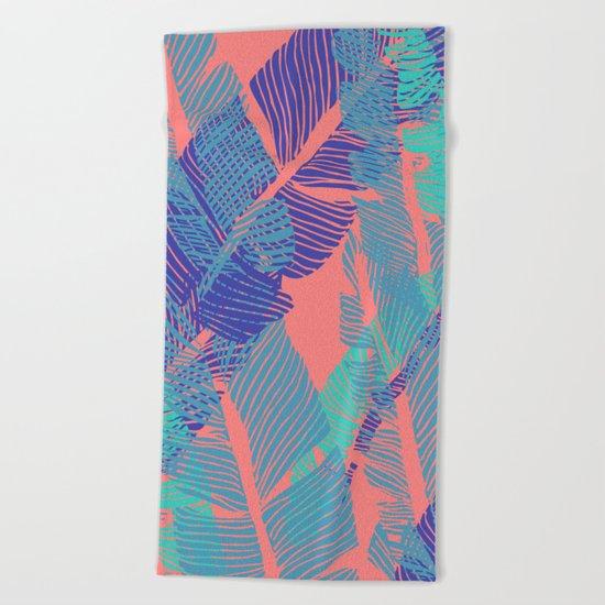 Carved Fluo Jungle #society6 #decor #buyart Beach Towel