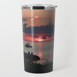 Sunset on the rocks Travel Mug