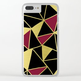 Golden Triangles Clear iPhone Case