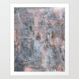 Burned Copper B Art Print