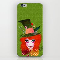 mad hatter iPhone & iPod Skins featuring Mad Hatter by Lunah